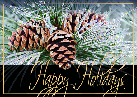 Cascading Pine Holiday Cards